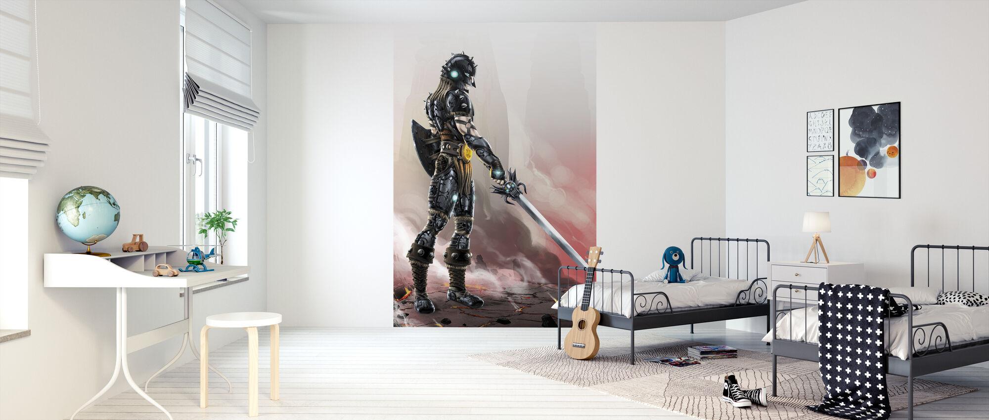Fantasy Warrior - Wallpaper - Kids Room