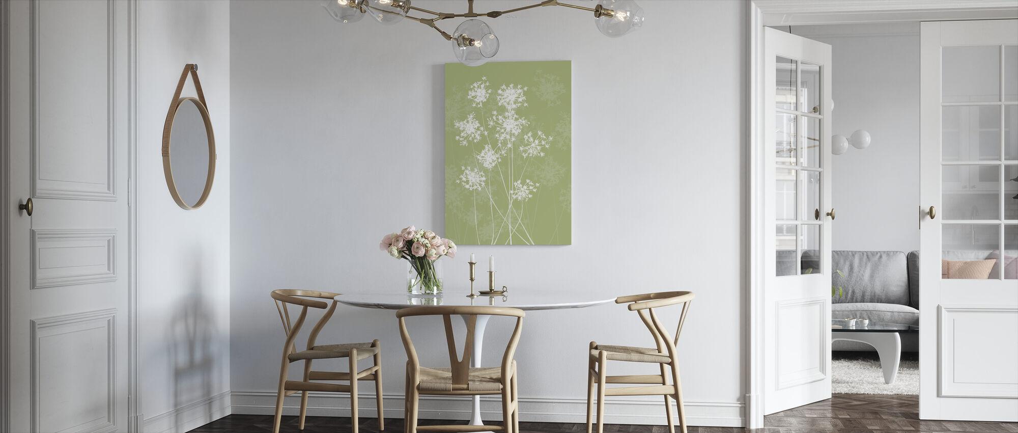 Dandelions - Green - Canvas print - Kitchen