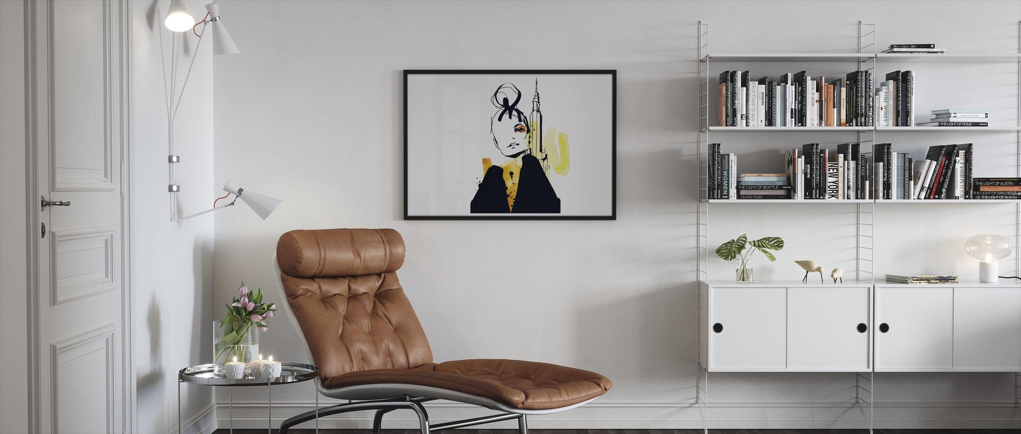 New York City - Ingelijste print - Woonkamer