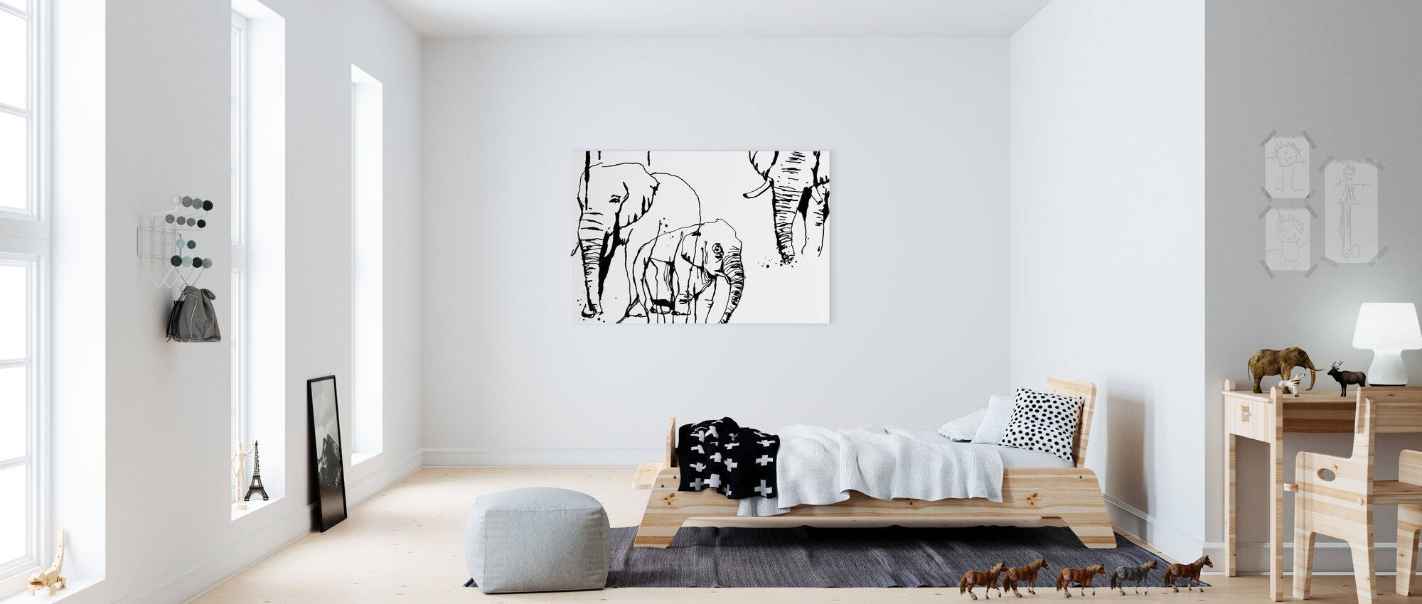Olifant - Canvas print - Kinderkamer