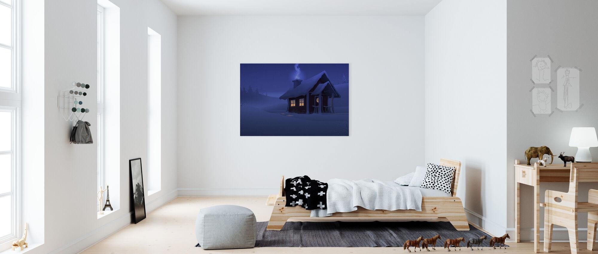 Xmas House - Canvas print - Kids Room
