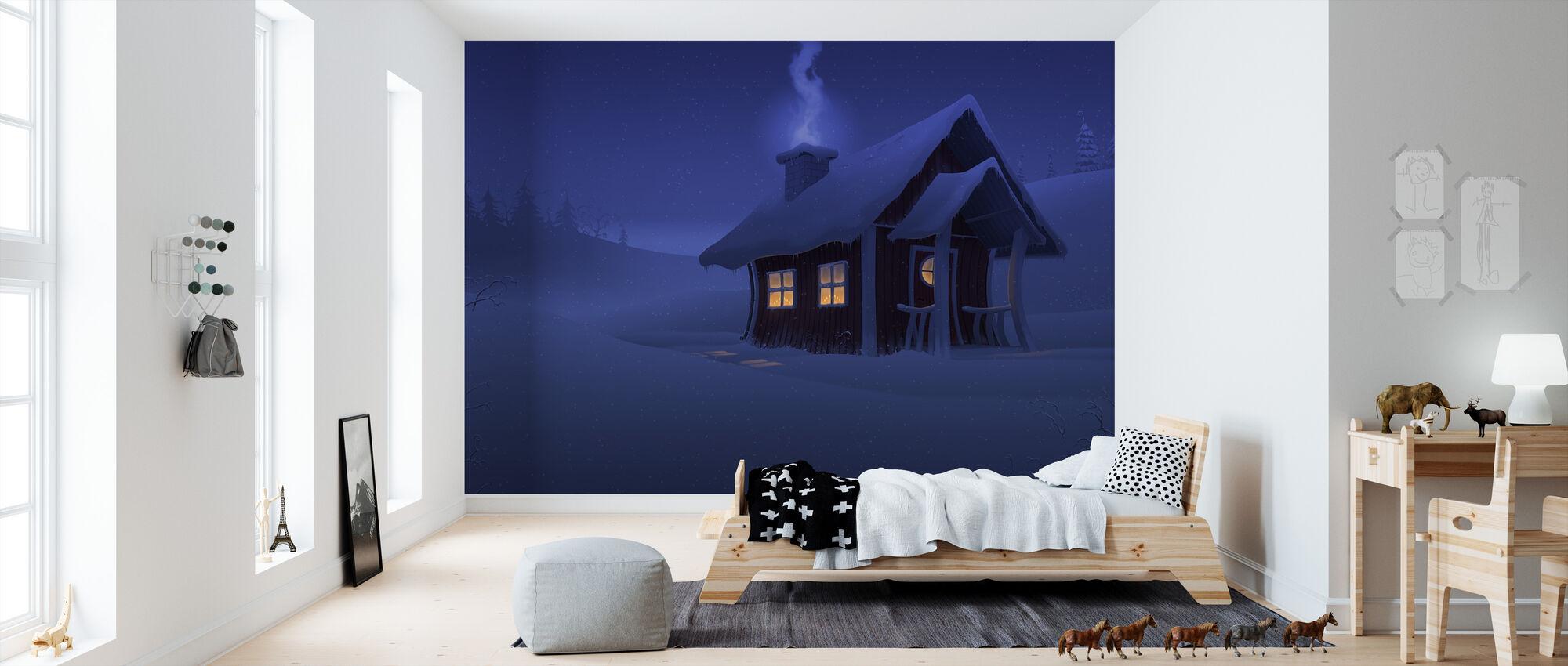 Xmas House - Wallpaper - Kids Room