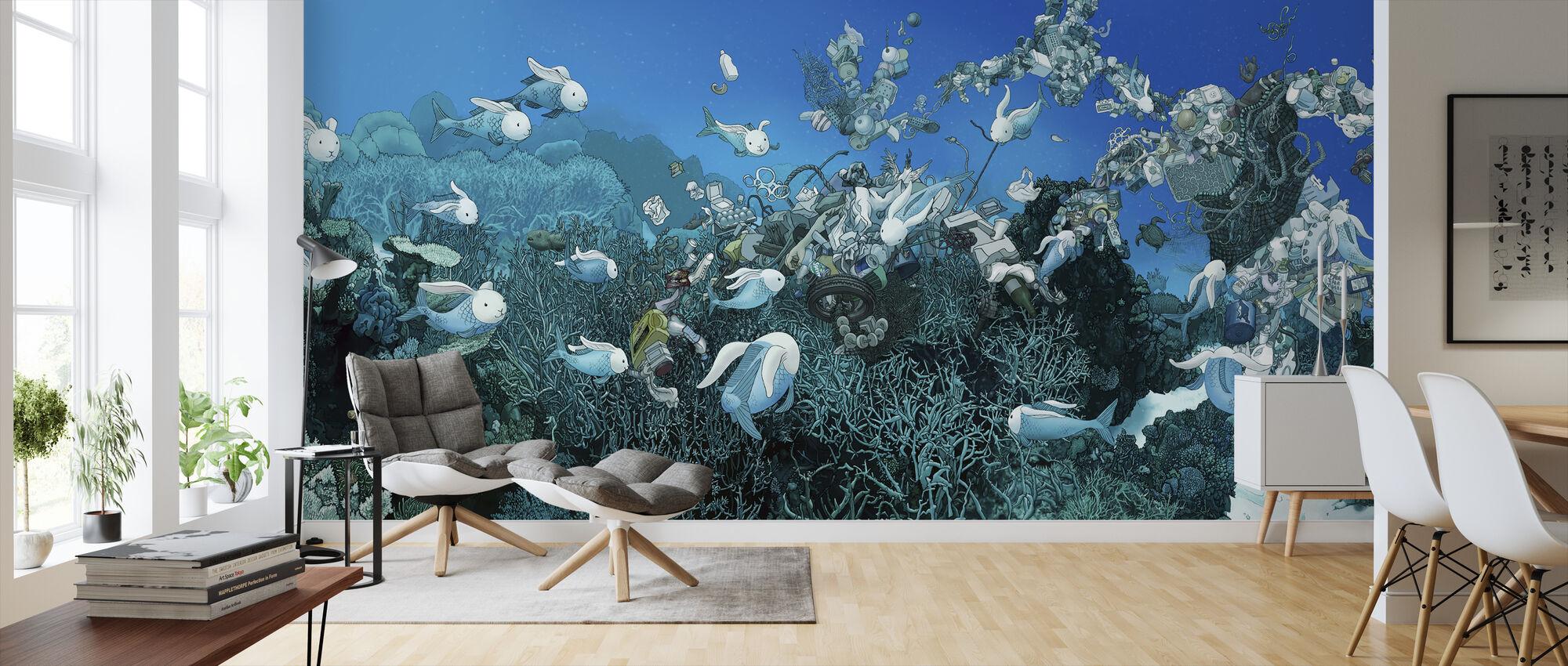 Pacific Drift - Wallpaper - Living Room