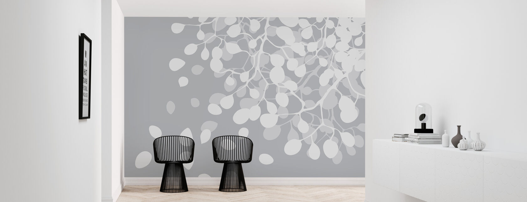 Birch Asphalt - Wallpaper - Hallway