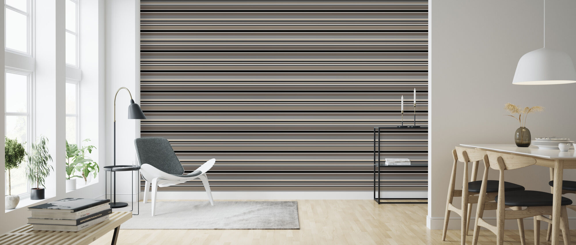 Stripe Sand - Wallpaper - Living Room