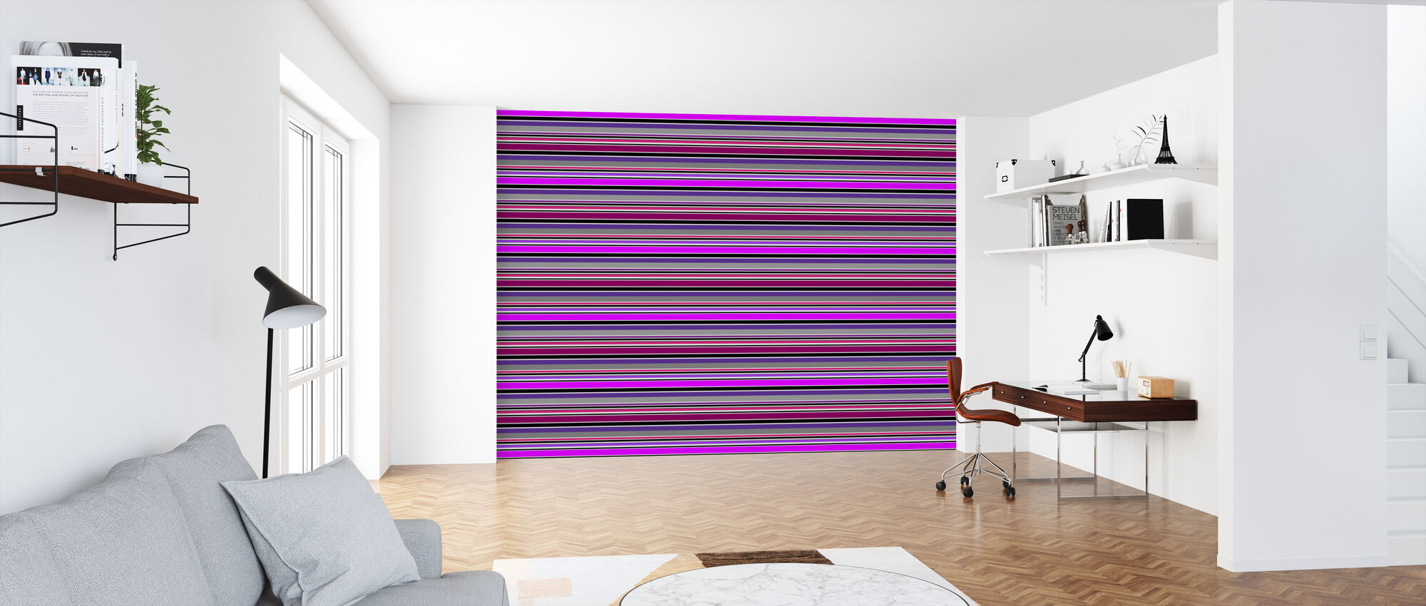 Stripe Purple - Wallpaper - Office