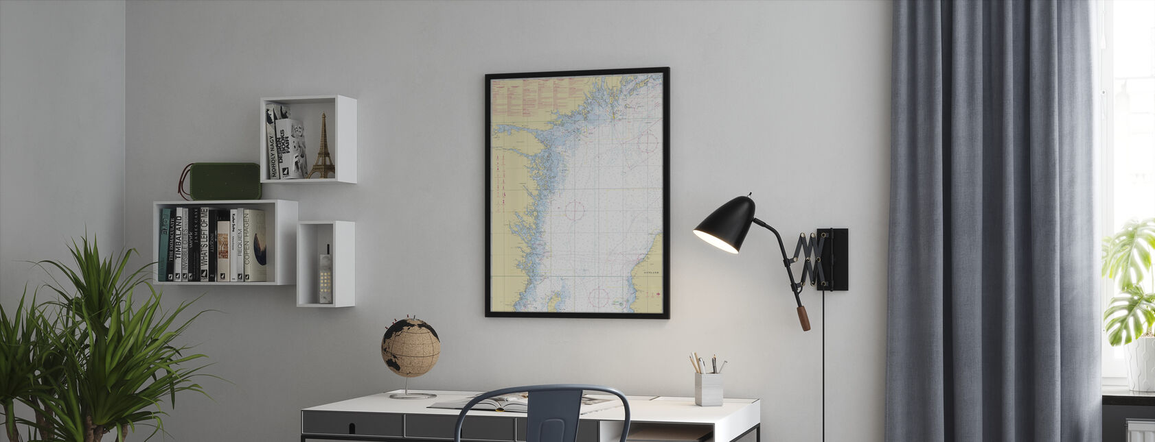 Sea Chart 72 - Oland - Landsort - Framed print - Office