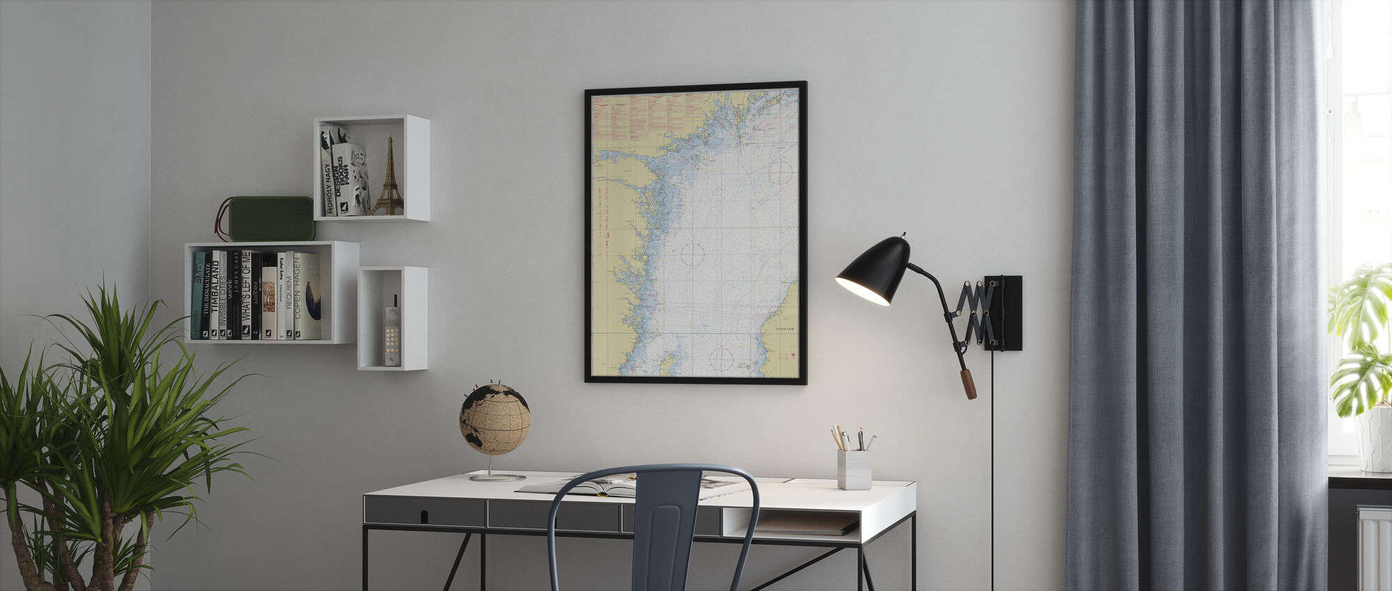 Zeekaart 72 - Oland - Landsort - Ingelijste print - Kantoor
