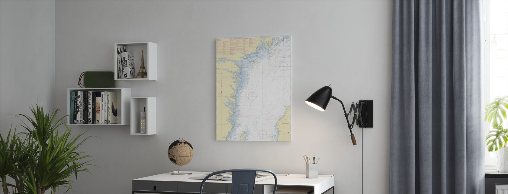 Sea Chart 72 - Oland - Landsort - Canvas print - Office