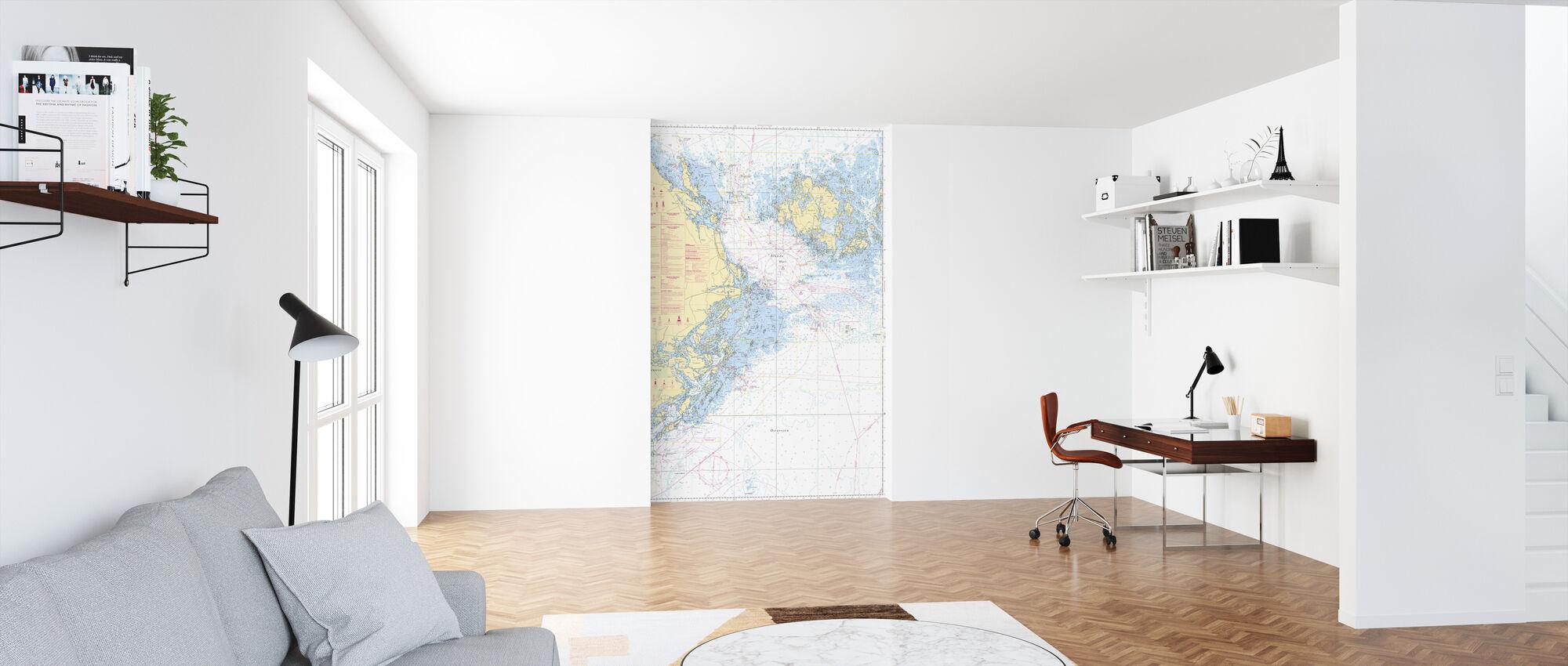 Sea Chart 61 - Landsort - Alands Hav - Wallpaper - Office