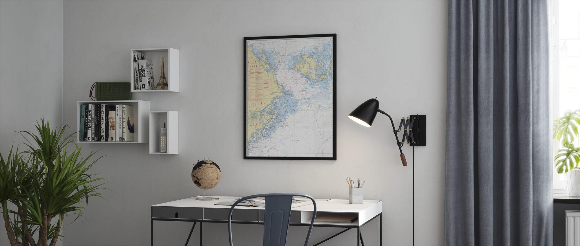 Sea Chart 61 - Landsort - Alands Hav - Framed print - Office
