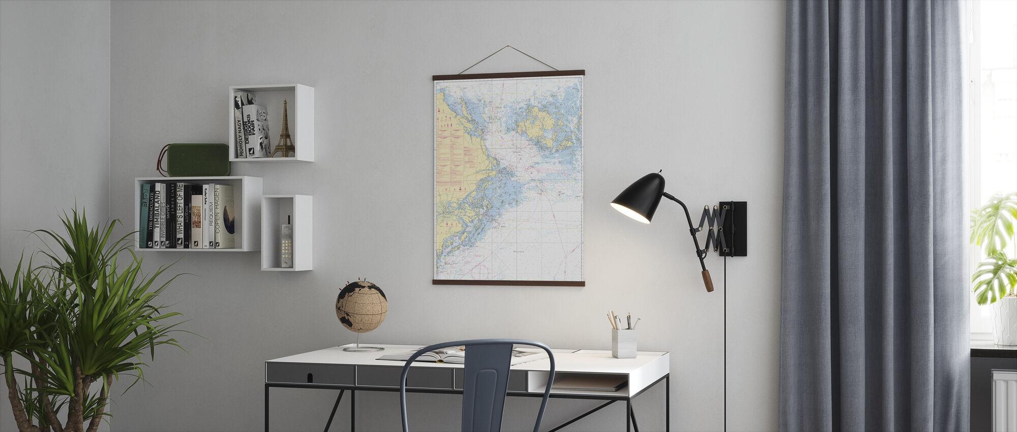 Sea Chart 61 - Landsort - Alands Hav - Poster - Office
