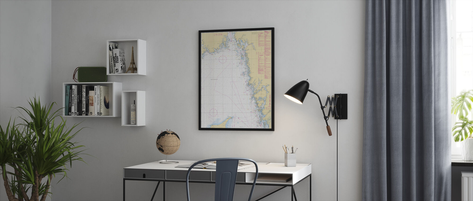 Sea Chart 93 - Skagerrak - Framed print - Office