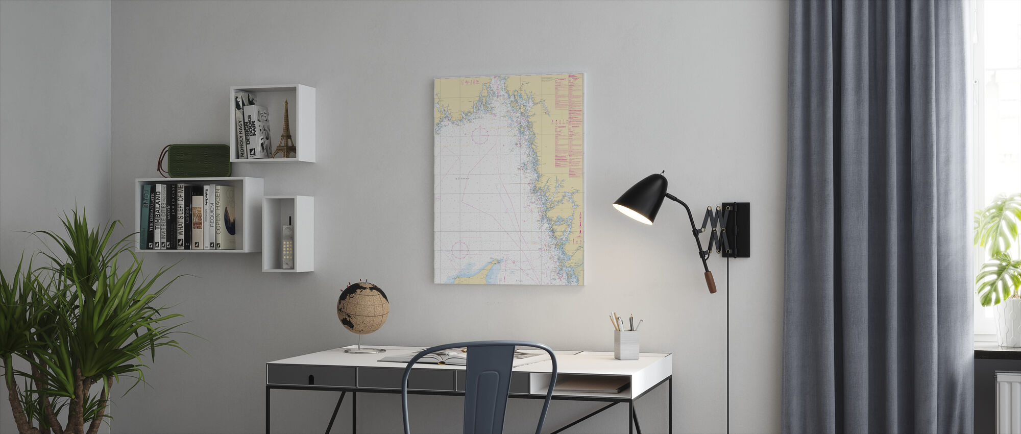 Sea Chart 93 - Skagerrak - Canvas print - Office