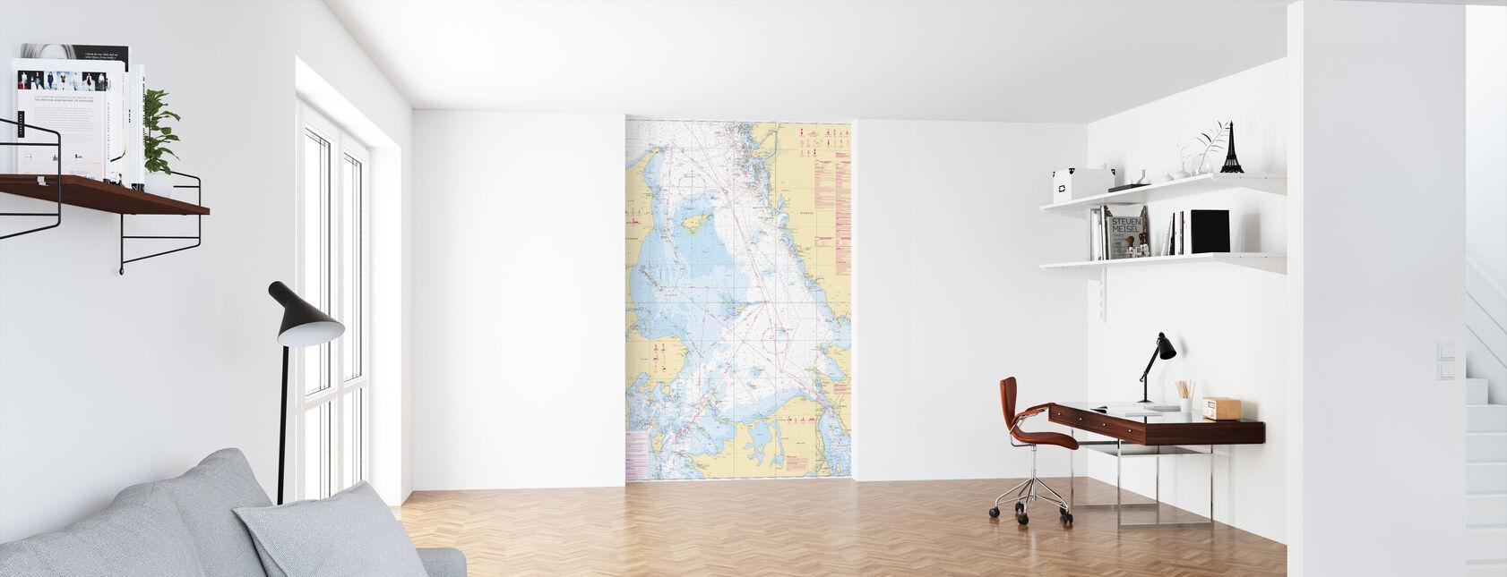 Sea Chart 92 - Kattegatt - Wallpaper - Office
