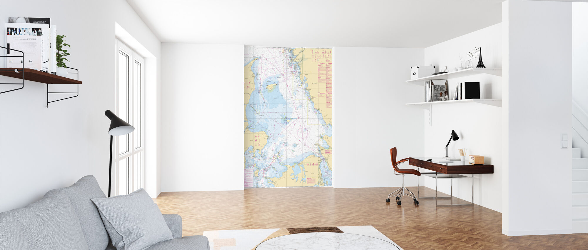 Sea Chart 92 - Kattegatt - Wallpaper - Office