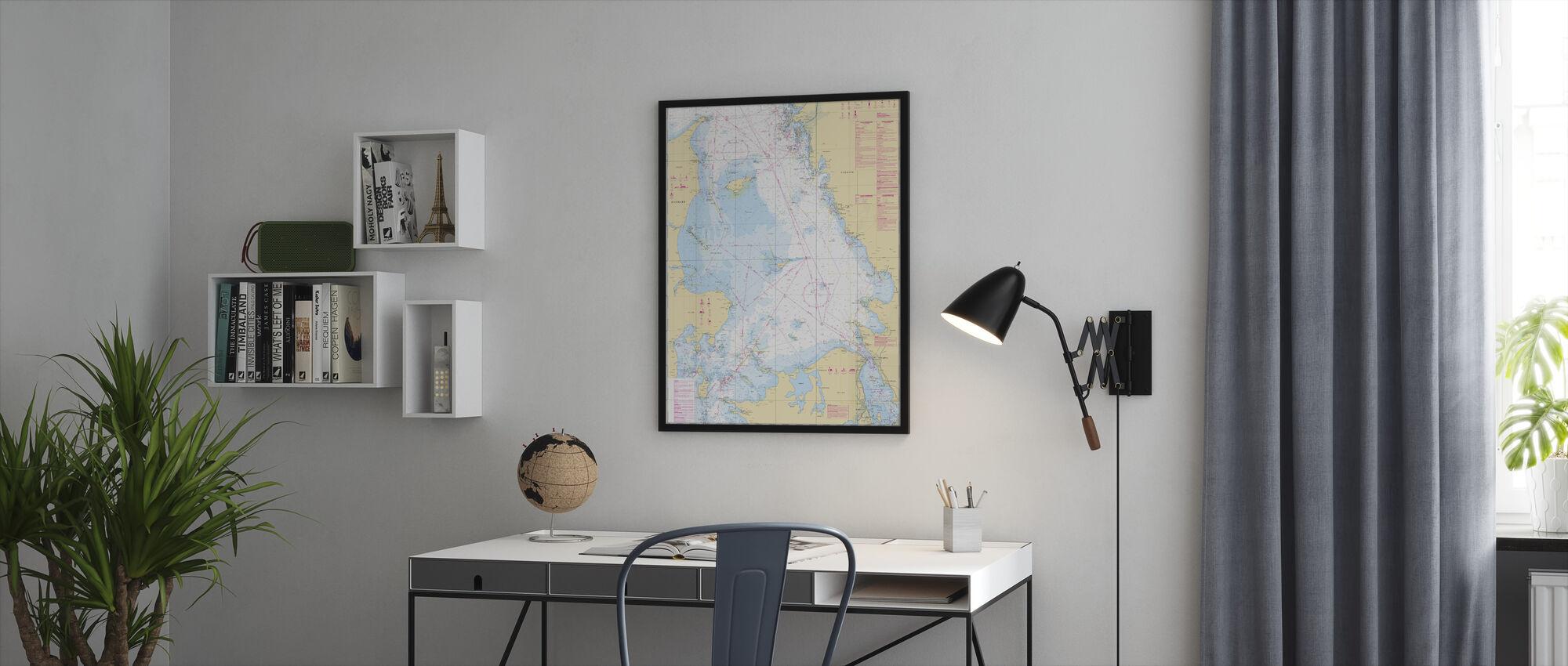 Sea Chart 92 - Kattegatt - Framed print - Office