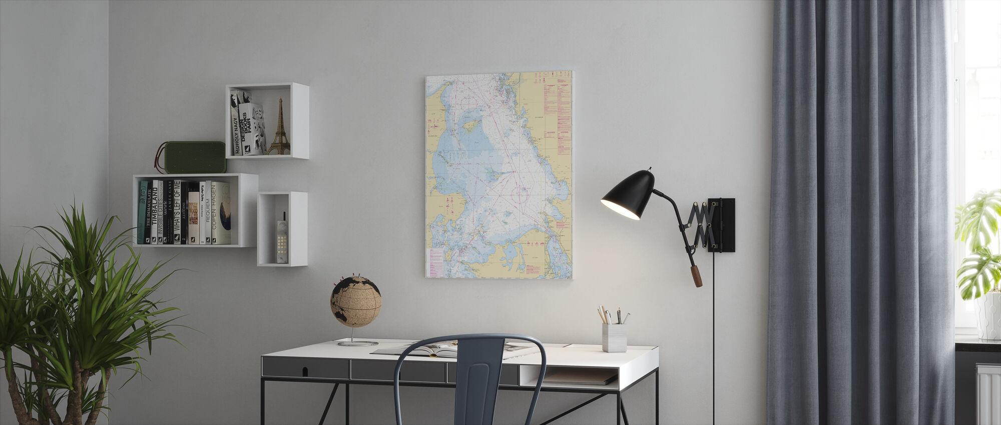 Sea Chart 92 - Kattegatt - Canvas print - Office