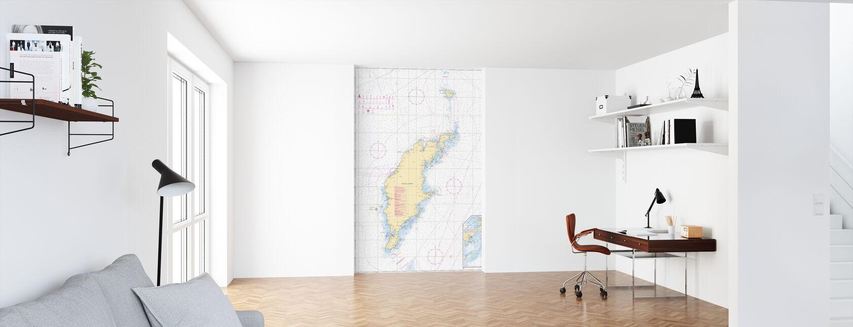 Sea Chart 73 - Gotland - Wallpaper - Office