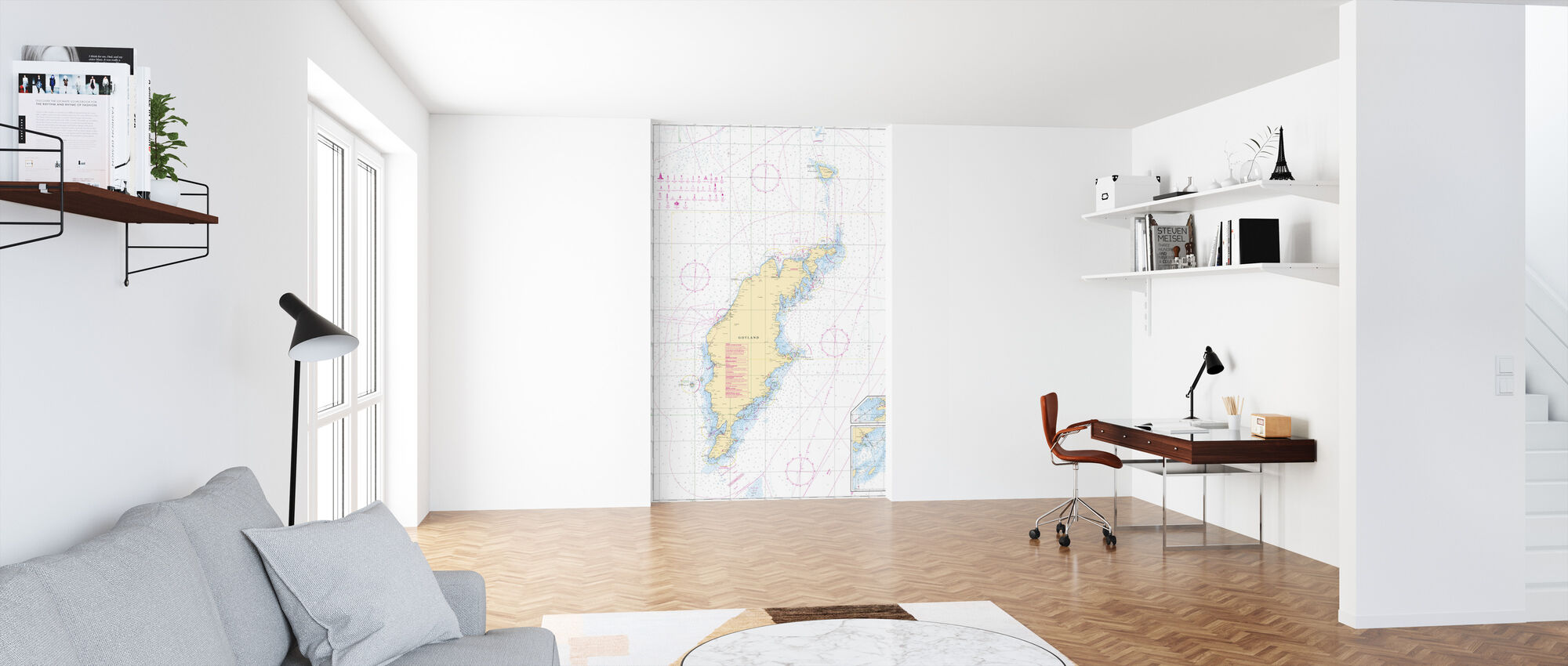 Sea Chart 73 - Gotland - Wallpaper - Office