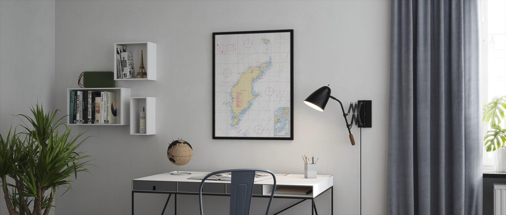 Zeekaart 73 - Gotland - Ingelijste print - Kantoor