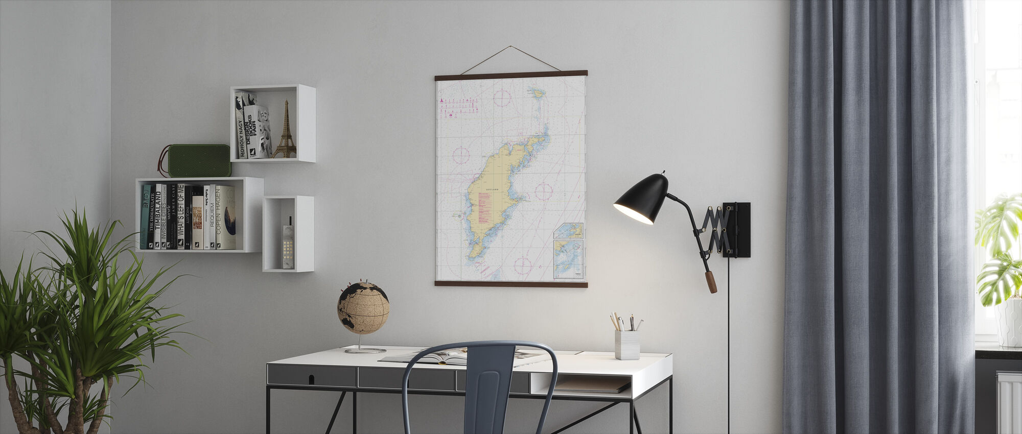 Sea Chart 73 - Gotland - Poster - Office