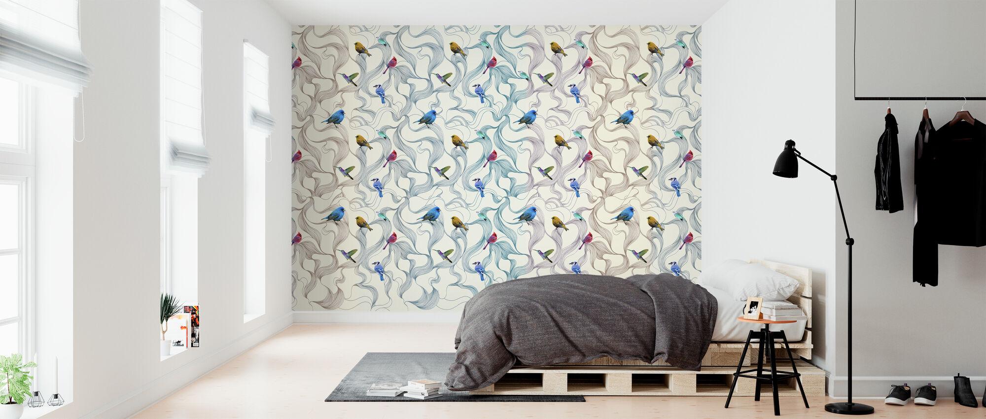 Fågelsång - Tapet - Sovrum