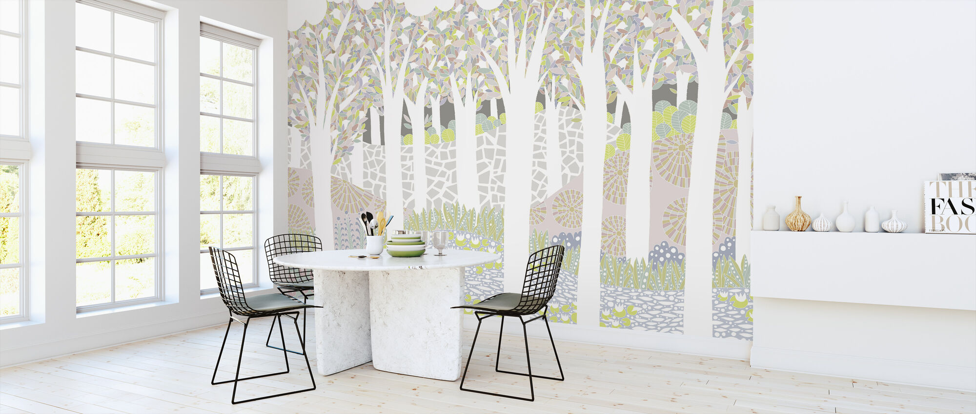 Bird Forest - Wallpaper - Kitchen