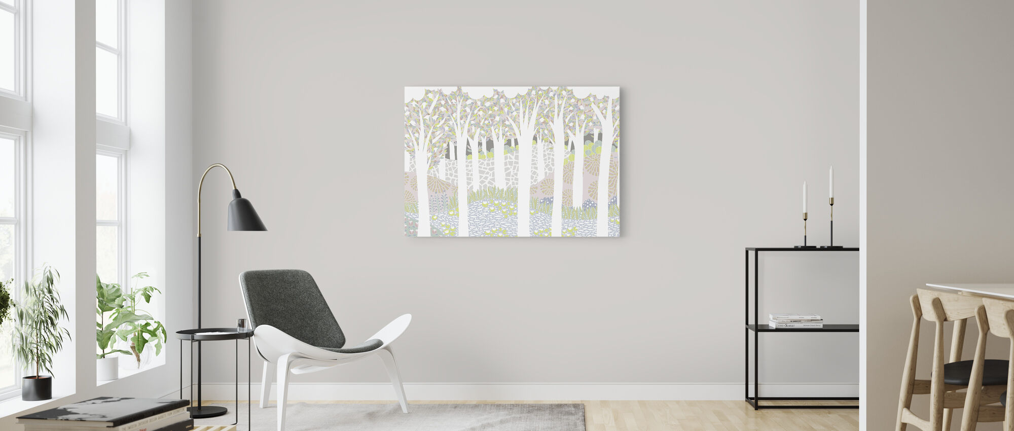 Bird Forest - Canvas print - Living Room