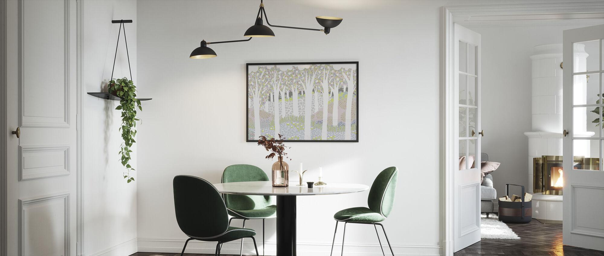 Bird Forest - Framed print - Kitchen