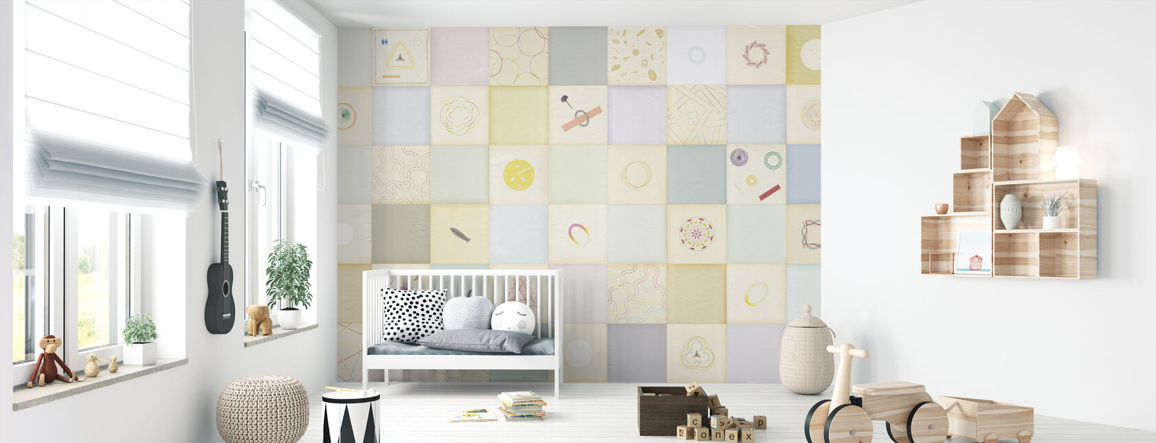 Checkered Garden - Wallpaper - Nursery