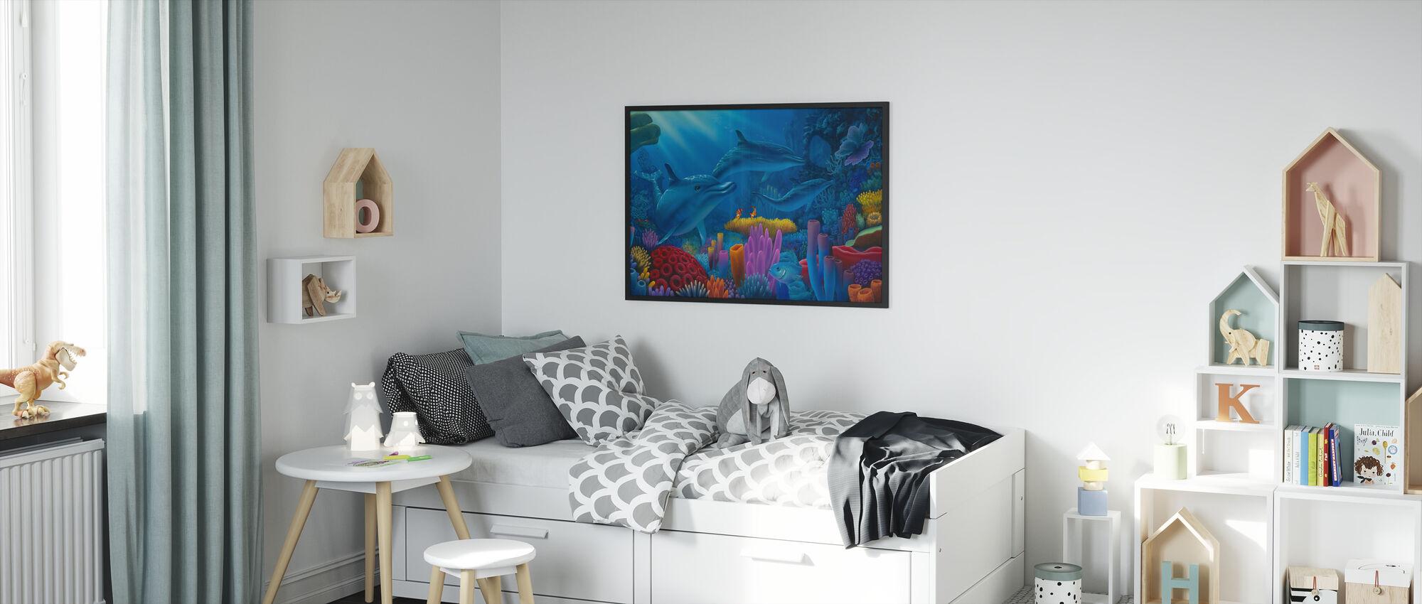 Meren salaisuudet - Kehystetty kuva - Lastenhuone