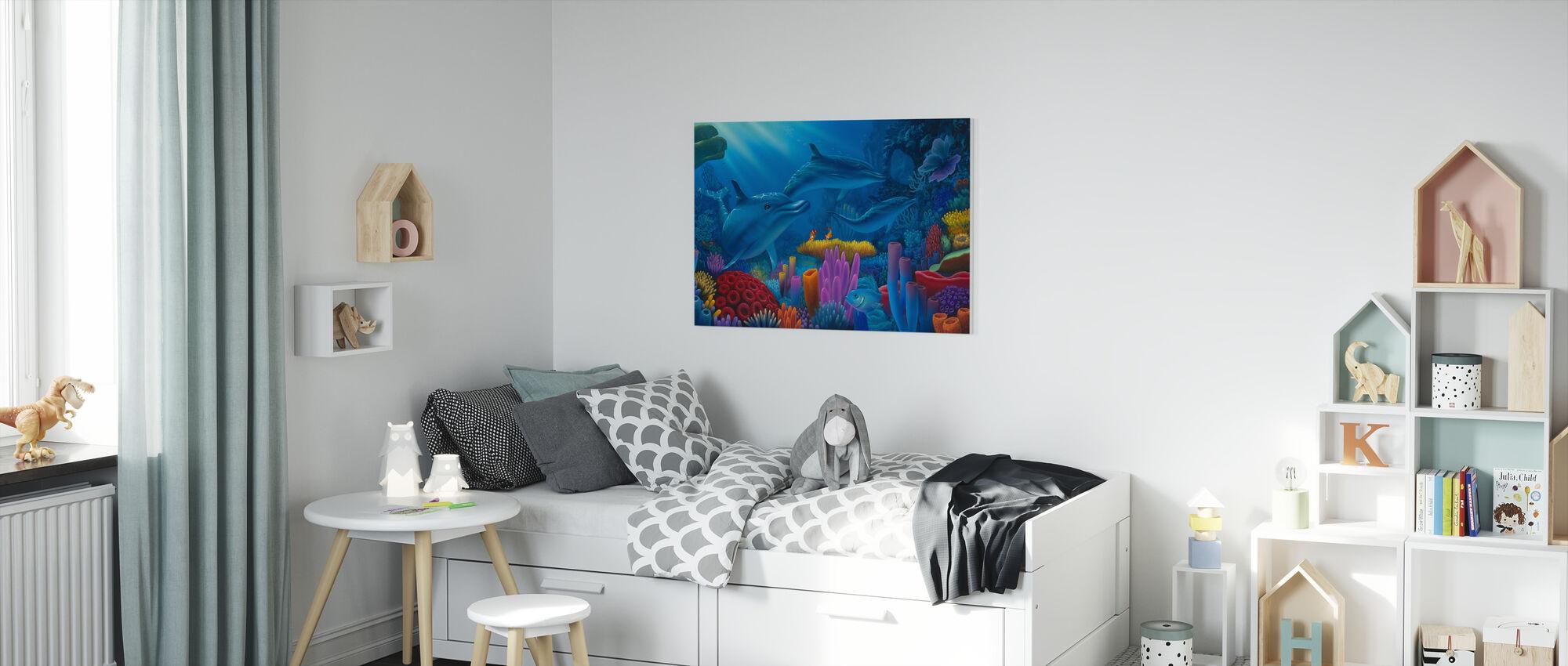 Hemligheter av havet - Canvastavla - Barnrum