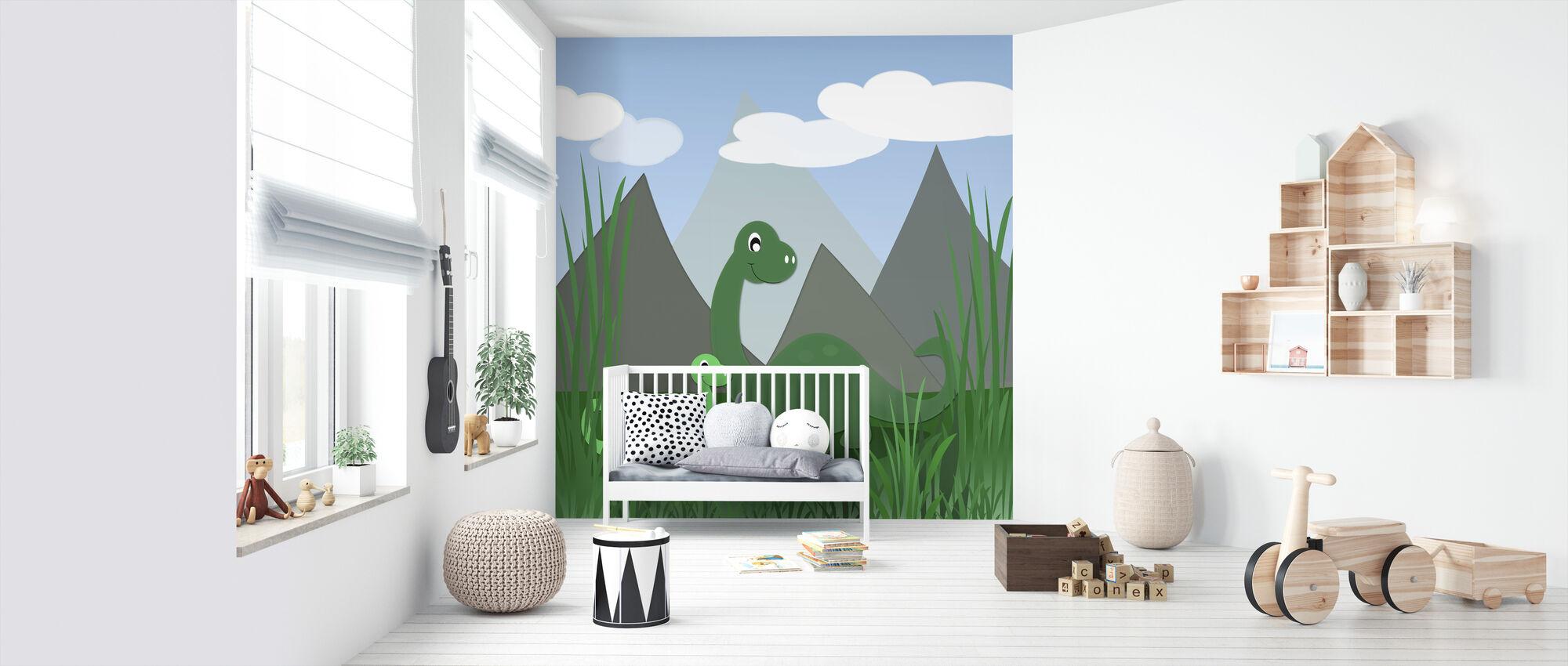Dinoland - Behang - Babykamer