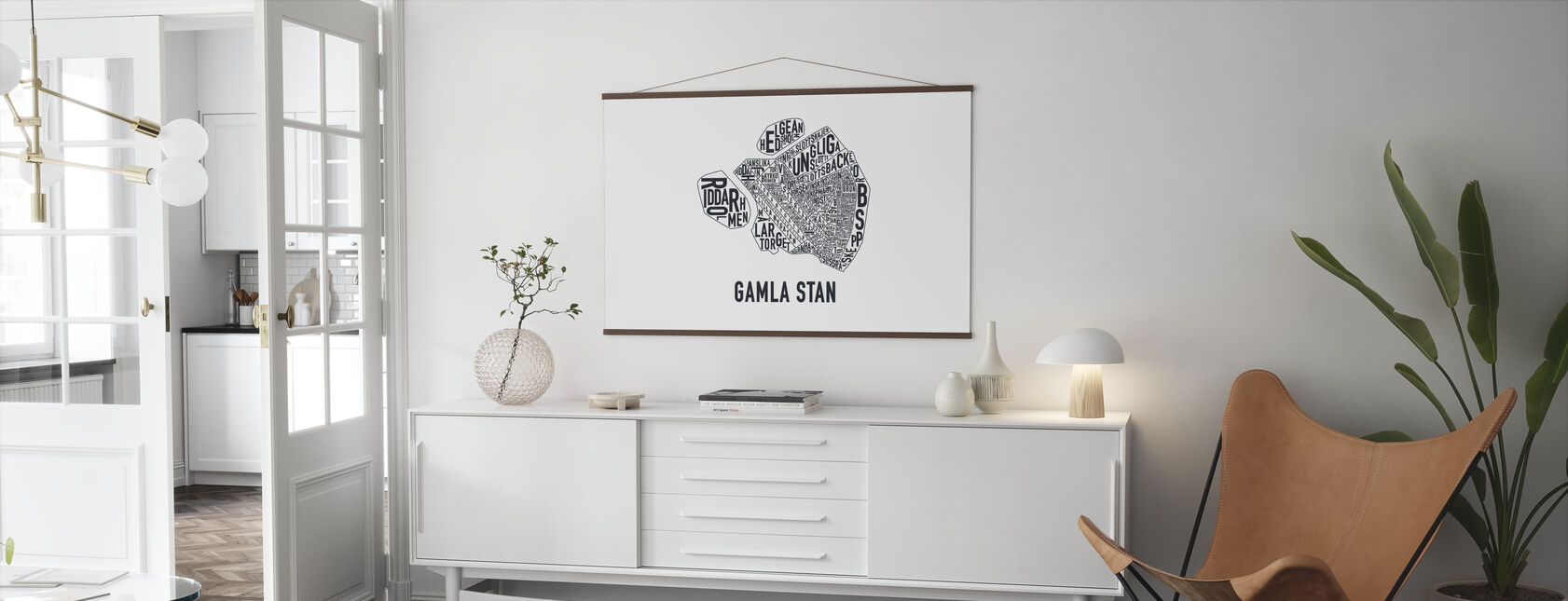 Oude Stad - Poster - Woonkamer