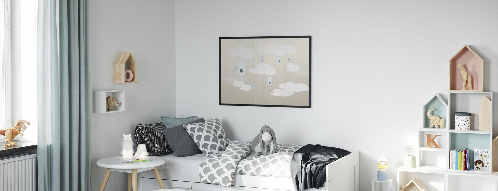 Birds Up High - Framed print - Kids Room