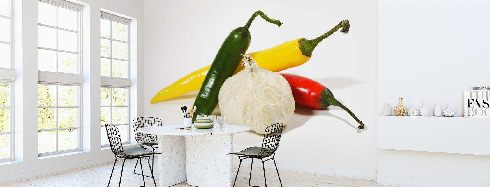 Jalapeño and Garlic - Wallpaper - Kitchen