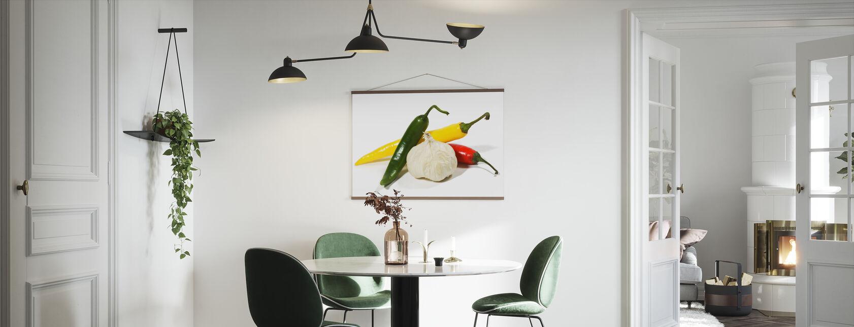 Jalapeño and Garlic - Poster - Kitchen