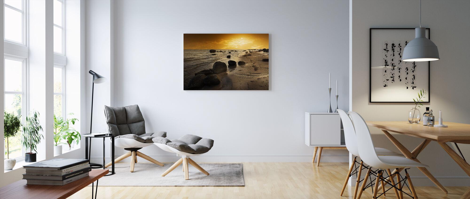 Golden Beach Sunset - Canvas print - Living Room