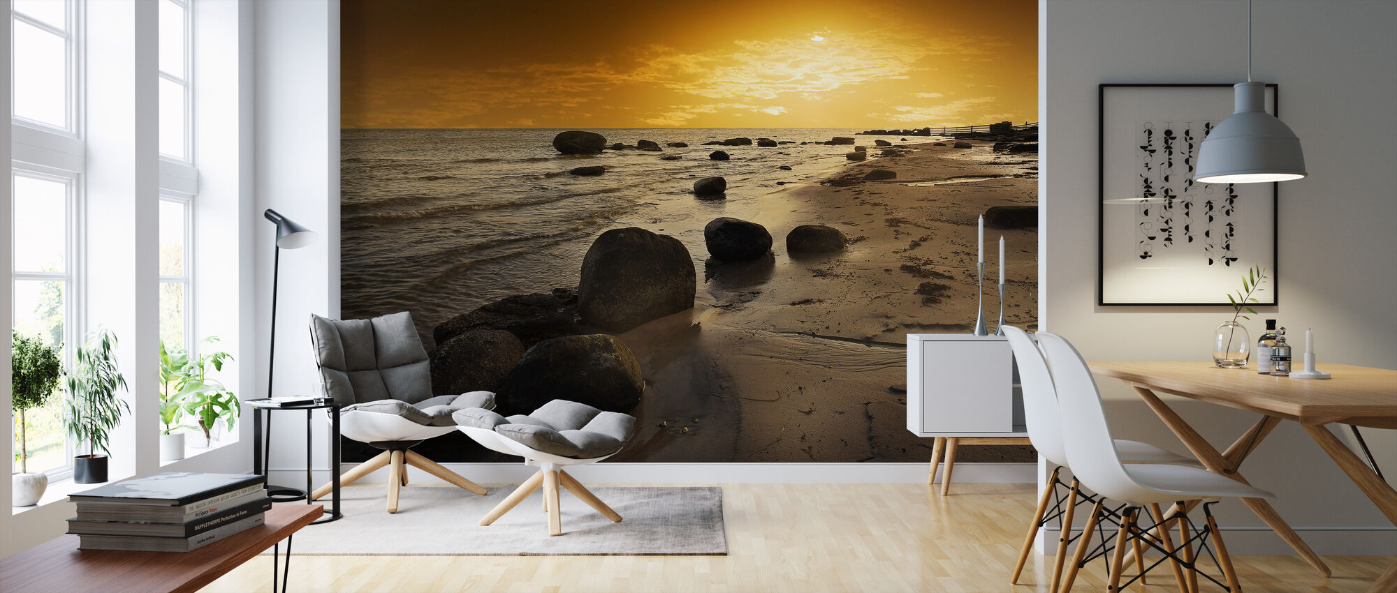 Golden Beach Sunset - Wallpaper - Living Room