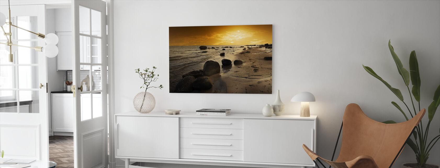 Golden Beach Sunset - Canvastaulu - Olohuone