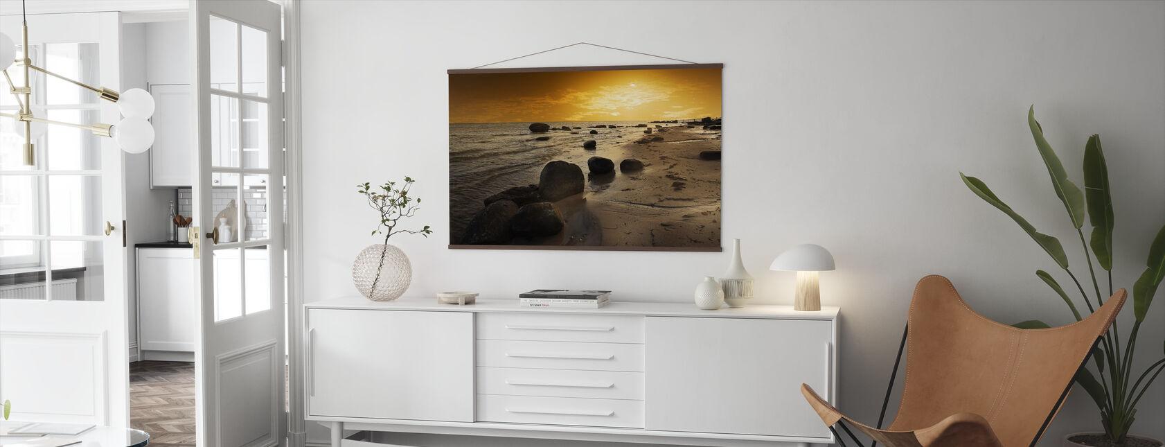 Golden Beach Sunset - Poster - Living Room
