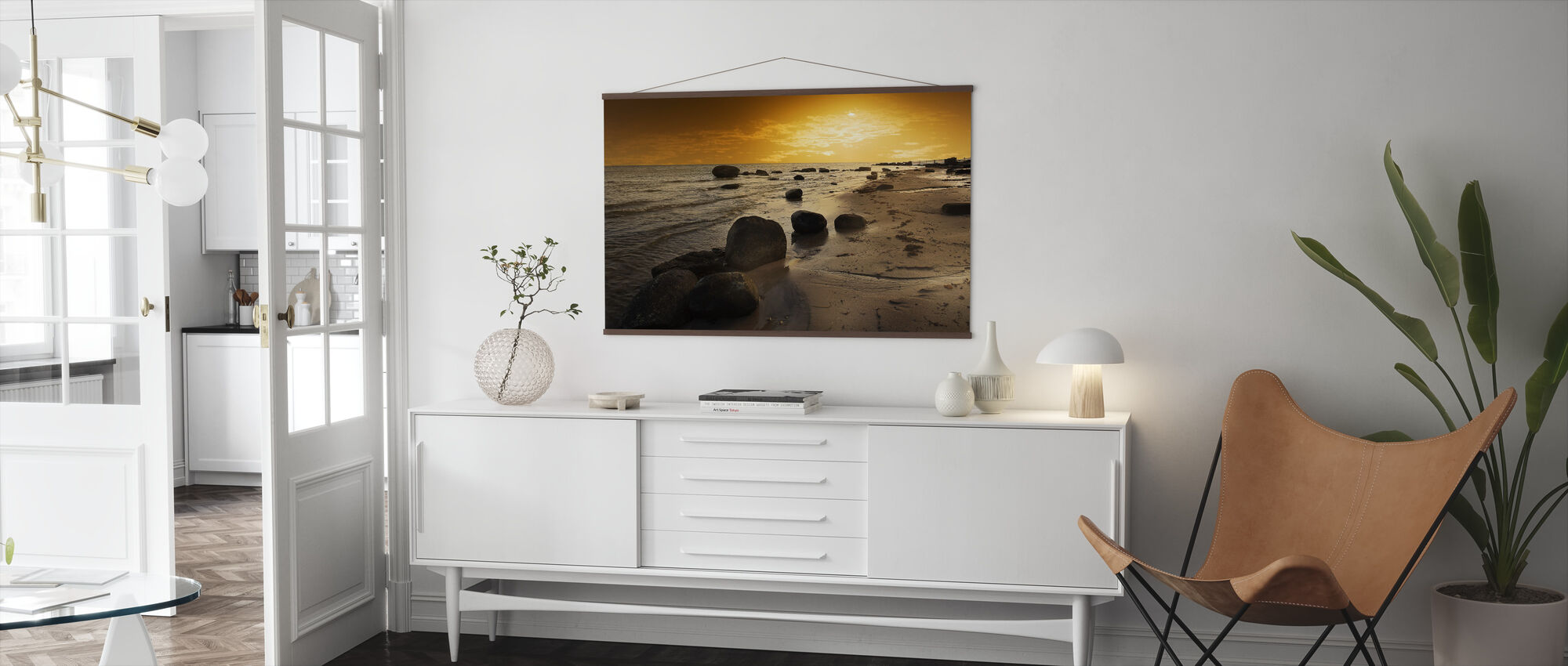 Golden Beach Sunset - Poster - Living Room