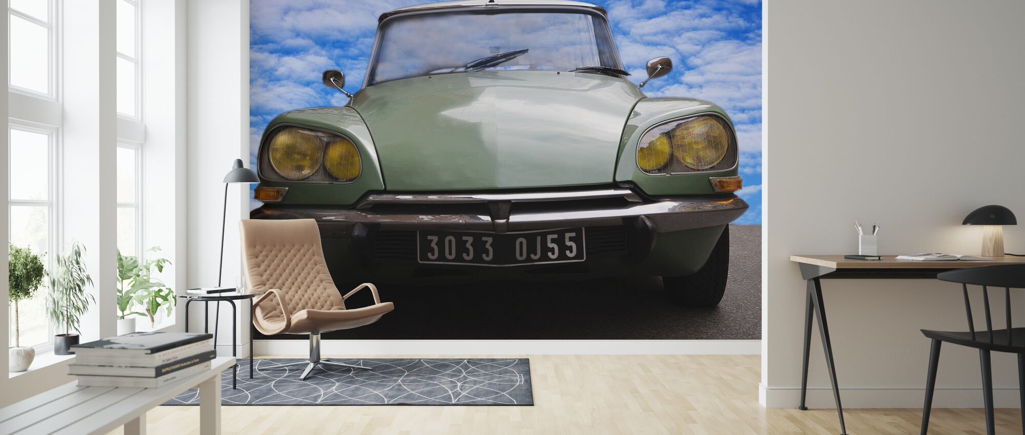 Citroen DS - Wallpaper - Living Room