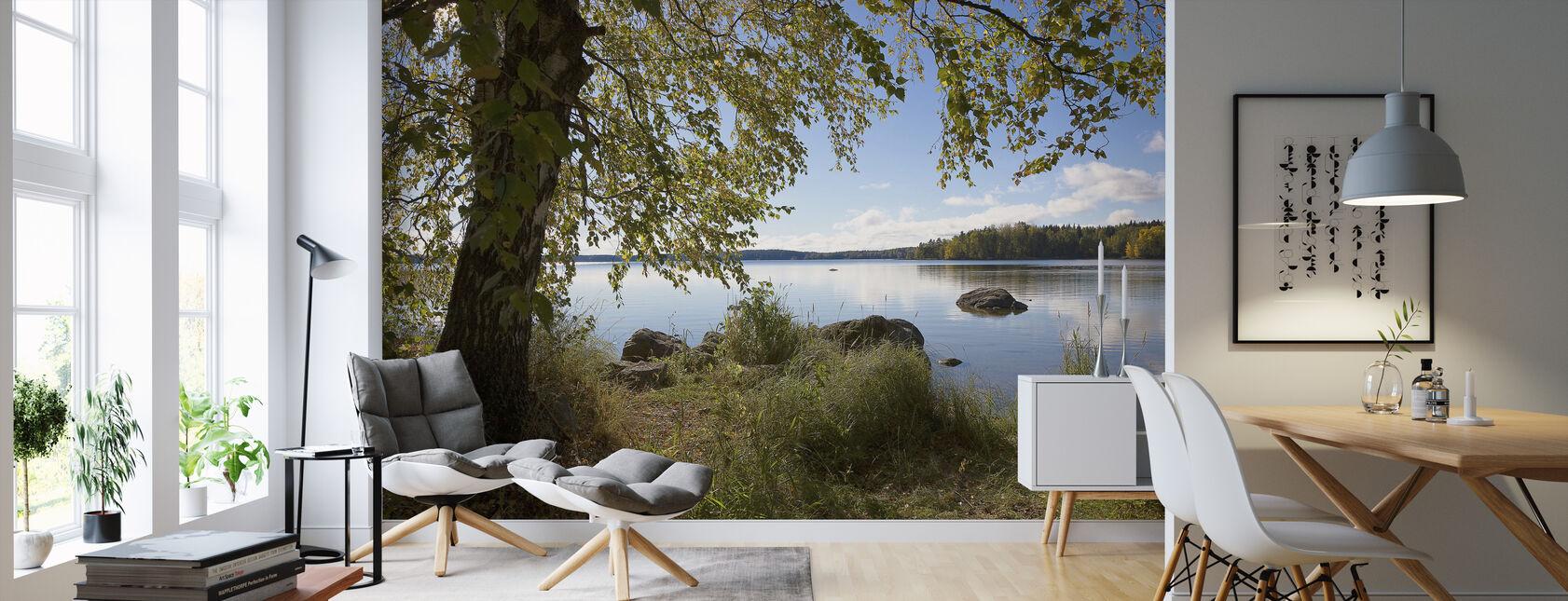 Koivu järven rannalla - Tapetti - Olohuone