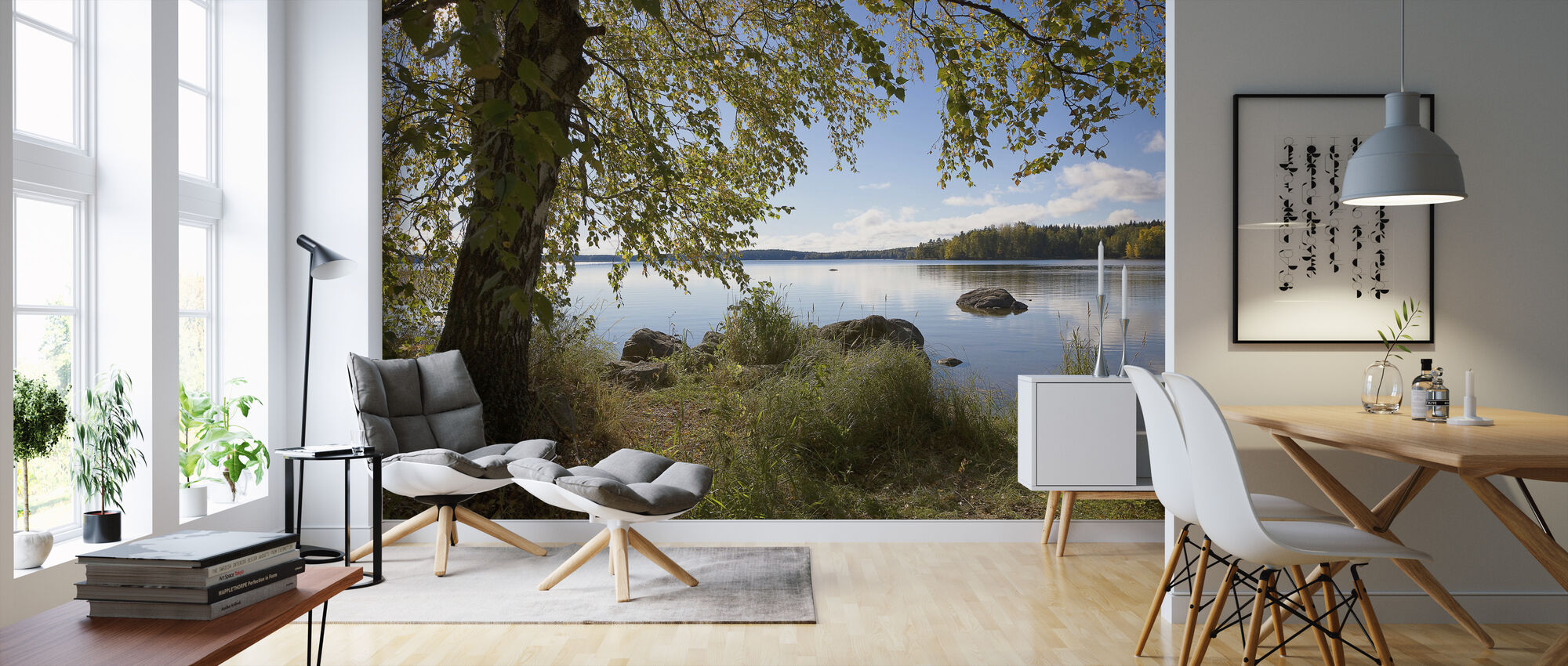 Birch by the Lake - Wallpaper - Living Room