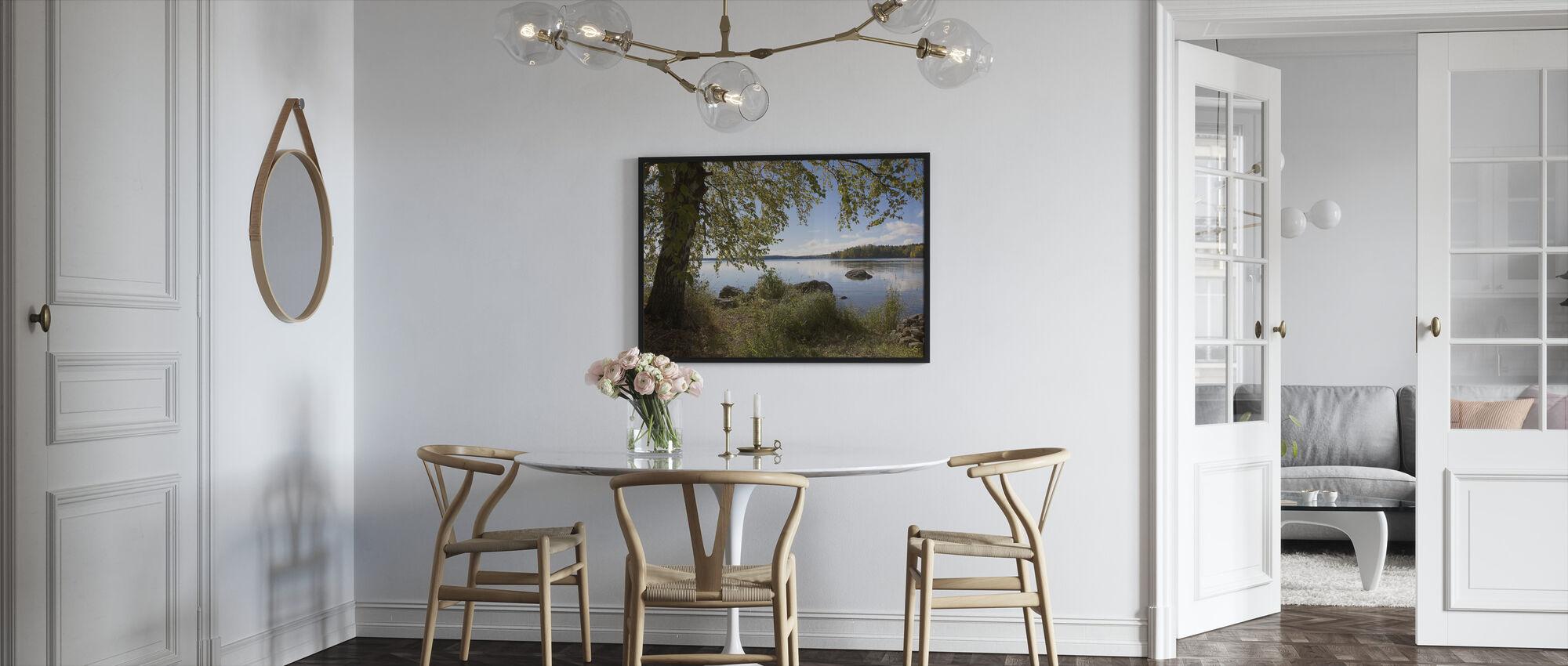Birch by the Lake - Framed print - Kitchen