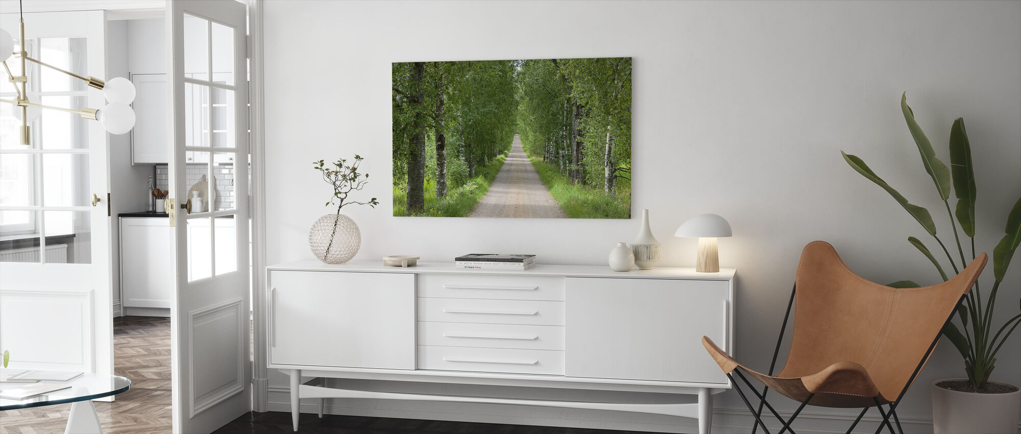Birch Avenue in Summer - Canvas print - Living Room