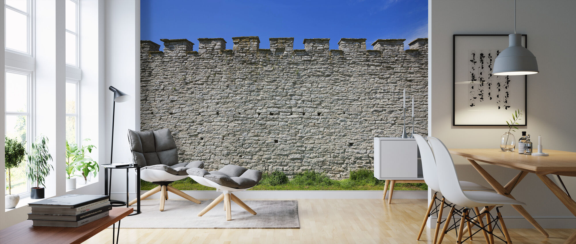 Old Fortress Wall - Wallpaper - Living Room