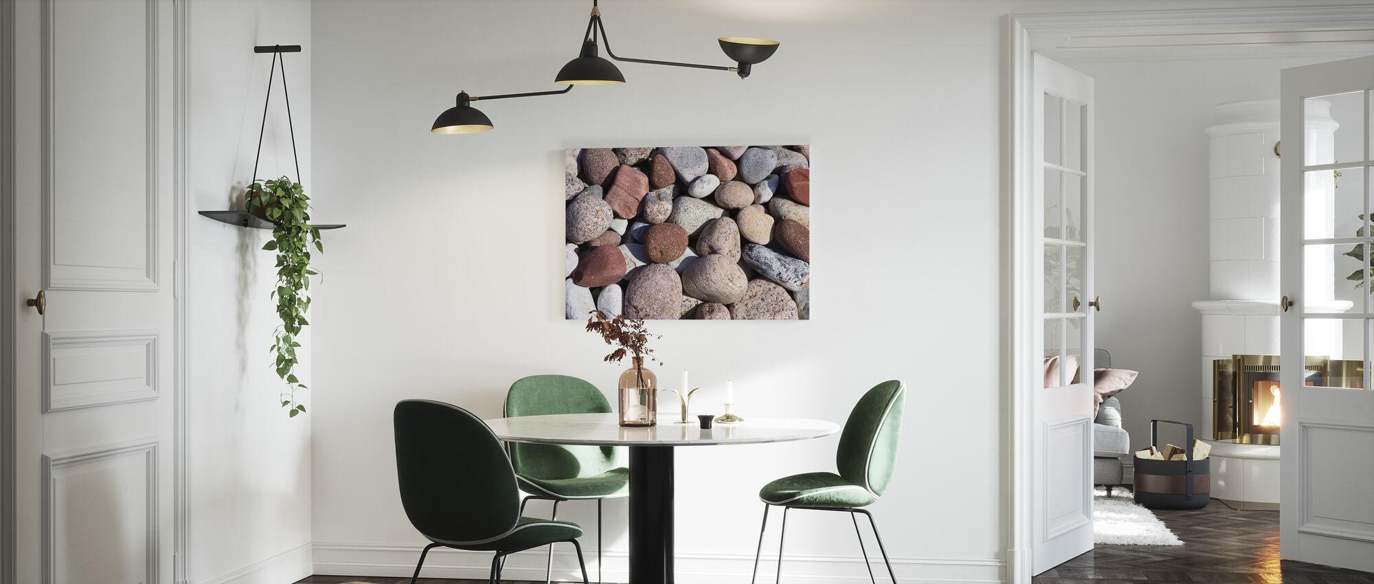 Värikäs kiillotettu kivet - Canvastaulu - Keittiö